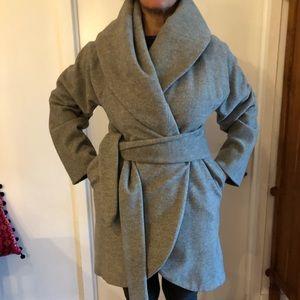 2281dc9daa2 ... MARA HOFFMAN grey wool wrap coat ...